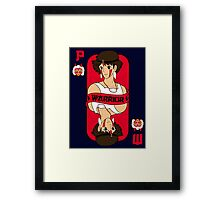 Warrior princess card Framed Print