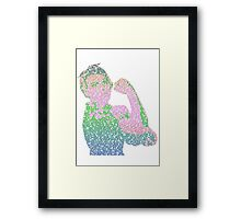Rosie the Riveter - Stereotype gender colors Framed Print
