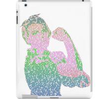 Rosie the Riveter - Stereotype gender colors iPad Case/Skin