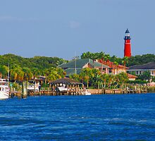Ponce Inlet Waterfront and Lighthouse by photobryan