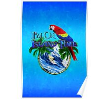 Island Time Surfing Poster