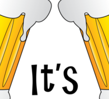 It's Beer O'Clock Funny Pint Glasses Sticker