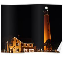 Ponce Inlet Lighthouse at Night Poster