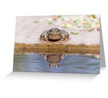 Lonley Frog Greeting Card