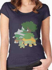 Turtwig Evolution Women's Fitted Scoop T-Shirt
