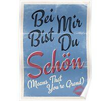 Lindy Lyrics - Bei Mir Bist Du Schon Poster