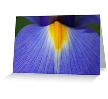 Blue and Yellow Tongue Greeting Card