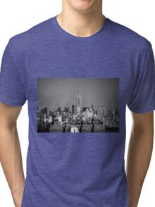 Empire State Building from Brooklyn Bridge Tri-blend T-Shirt