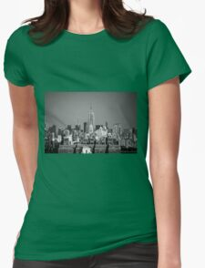 Empire State Building from Brooklyn Bridge Womens Fitted T-Shirt