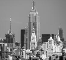 Empire State Building from Brooklyn Bridge Sticker