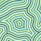 Blue Green Pattern by shinyjill