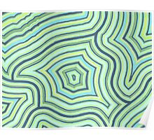Blue Green Pattern Poster