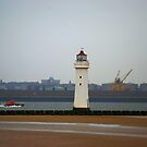 Lifeboat and lighthouse by shakey