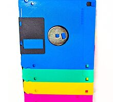 Colorful floppy discs by benbdprod