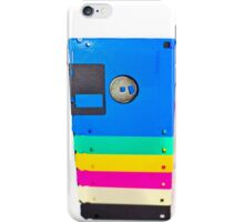 Colorful floppy discs iPhone Case/Skin
