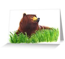A Grizzly Bear Greeting Card