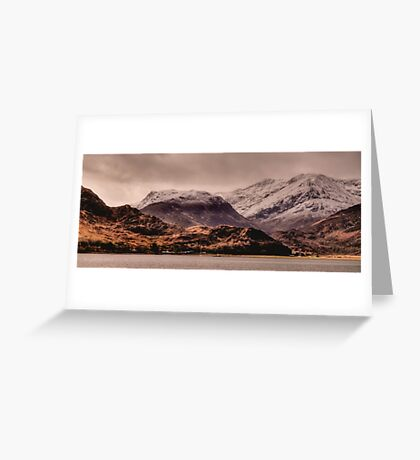 Snowy Mountains, Kintail, Scotland Greeting Card