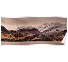 Snowy Mountains, Kintail, Scotland Poster