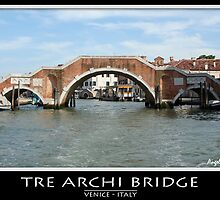Tre archi bridge by Angelo Vianello