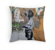 Grafitti Art Throw Pillow