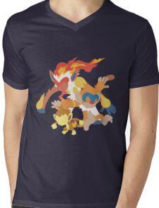 Chimchar Evolution Mens V-Neck T-Shirt