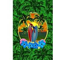 Tropical Sunset Palm Trees Photographic Print