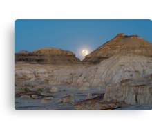 Full Moon in the Bisti Canvas Print