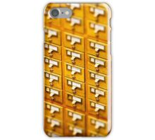 Library Card Catalogs iPhone Case/Skin