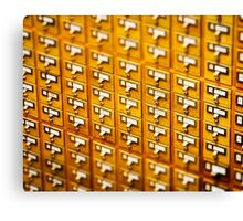 Library Card Catalogs Canvas Print