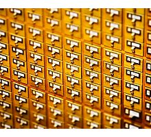 Library Card Catalogs Photographic Print