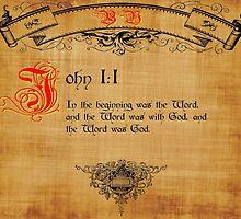 Bible Verse John 1:1 by cuda12