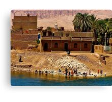 Washing in the Nile ! / (see large) Canvas Print