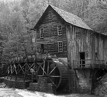 The Glade Creek Grist Mill in B&W by KSkinner