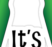 It's Beer O'Clock Party Time Green Bottles Sticker