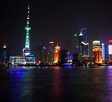 Shanghai Skyline by impulse