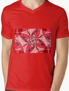 Red Gauze Abstract Mens V-Neck T-Shirt