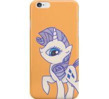 Notecard Ponies #5: Rarity iPhone Case/Skin