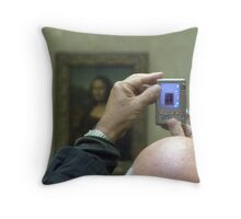 Mona Lisa viewed Throw Pillow
