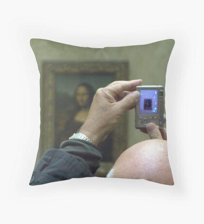 Mona Lisa viewed Throw Pillow