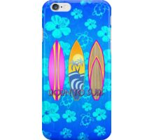 Born To Surf Blue Honu iPhone Case/Skin
