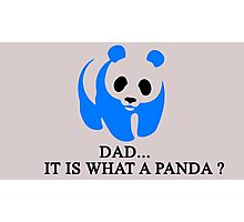 What is a Panda? Photographic Print