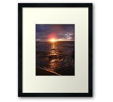 Golden Fury Framed Print