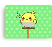 Kawaii bird Canvas Print