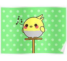 Kawaii bird Poster