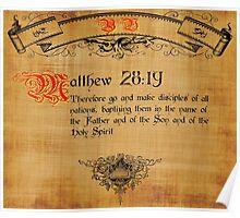 Blble Verse Matthew 28:19 Poster