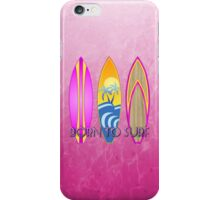 Pink Born To Surf  iPhone Case/Skin
