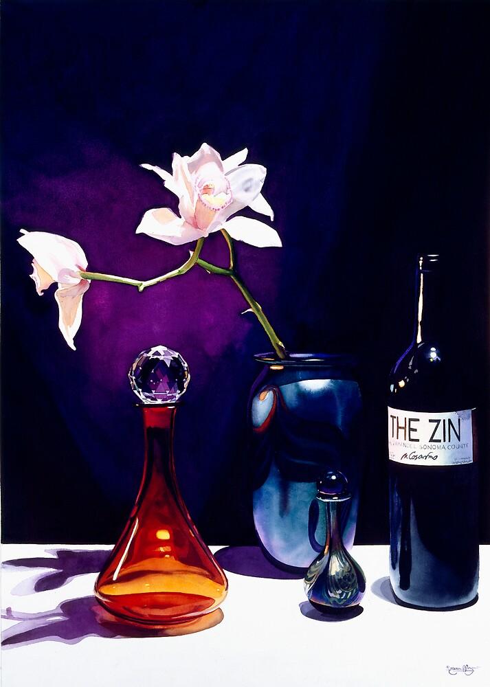 """The Zin"" Still Life Watercolor by Paul Jackson"