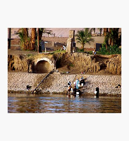 Collecting Water On the Nile Photographic Print