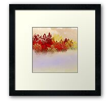The Red Trees Framed Print