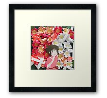 Spirited Away's Chihiro Running Through Flowers Framed Print